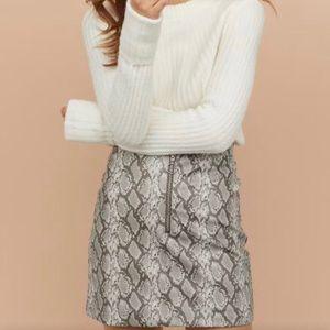 H&M snake print skirt
